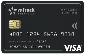 refresh financial secured card