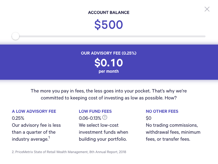 wealthfront fees