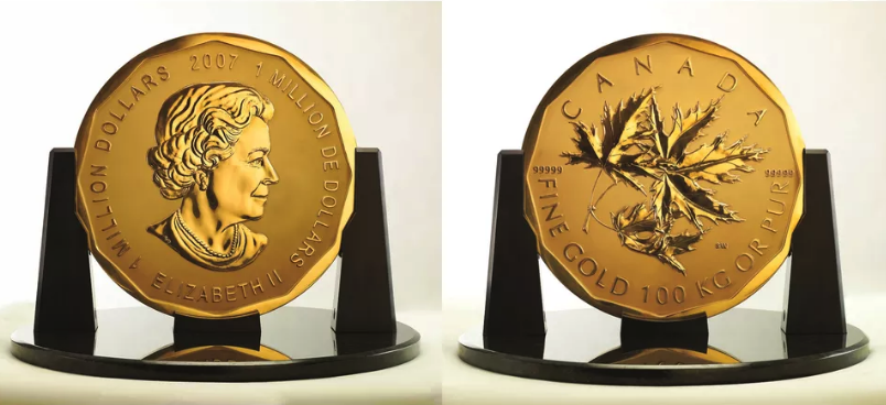 $1 Million Gold Canadian Maple Leaf