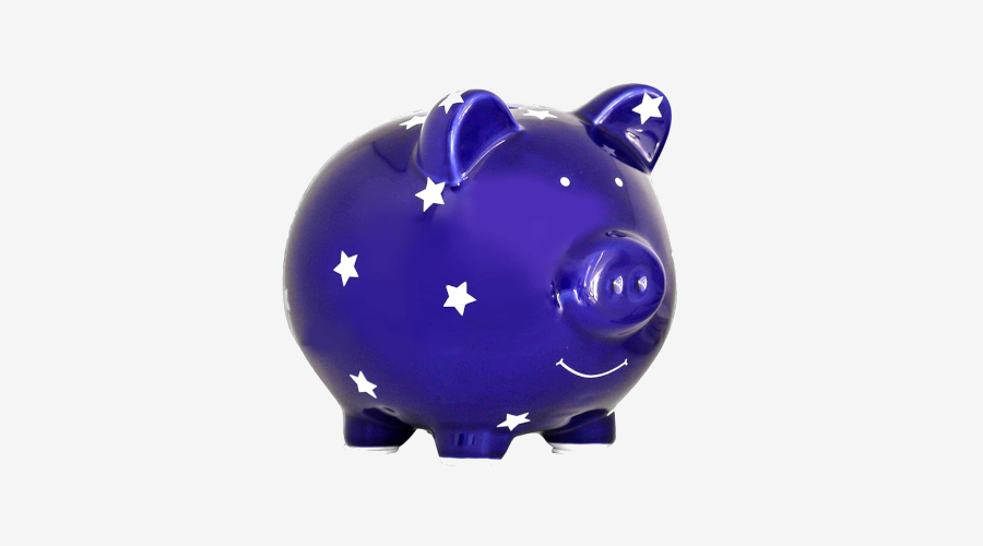Pearhead Ceramic Piggy Bank With Stars