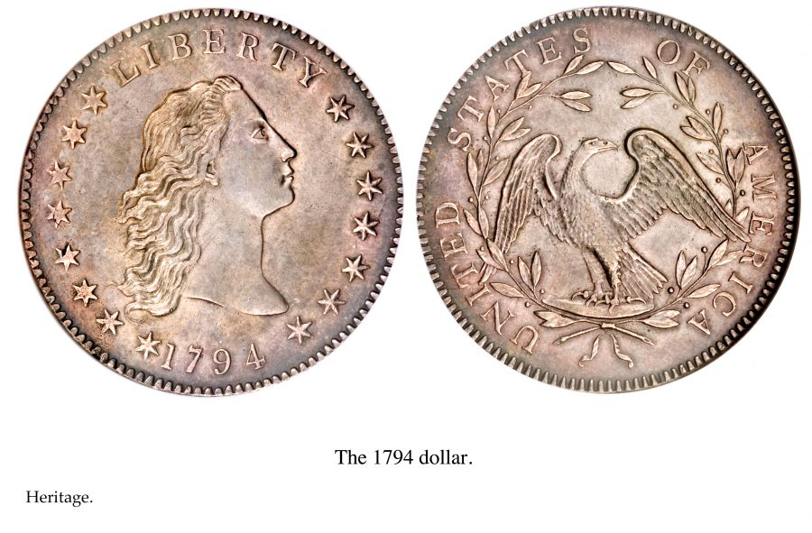 The 1794 Flowing Hair Silver Dollar