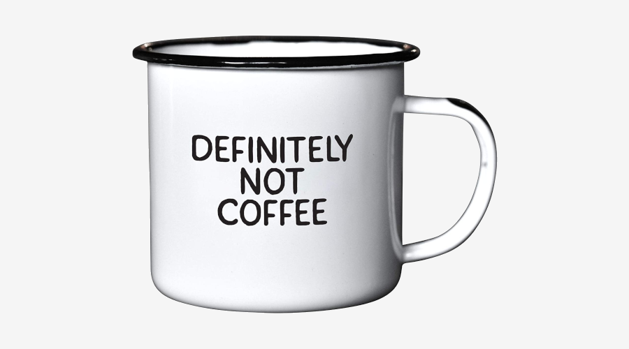 DEFINITELY NOT COFFEE Enamel Coffee Mug