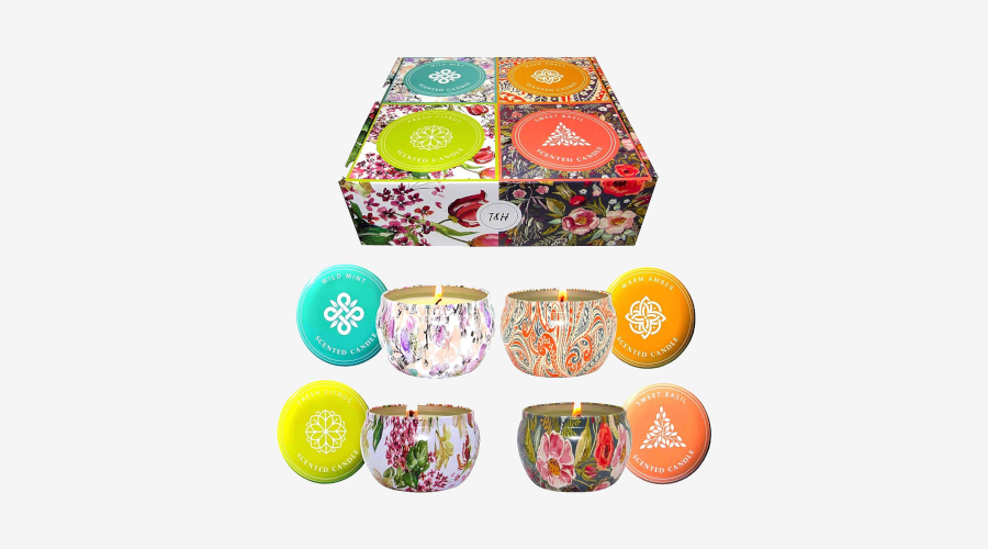 T&H Aromatherapy Stress Relief Candles