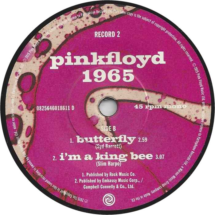 The Pink Floyd Lucy Leave And I'm A King Bee