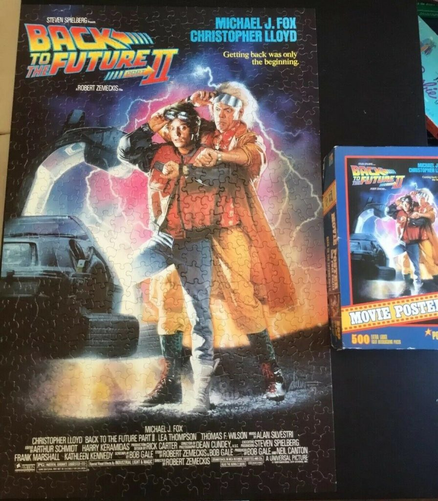 back to the future vintage puzzle